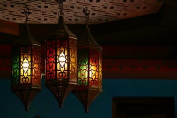 beautiful vintage lantern hanging, ramadan light decoration