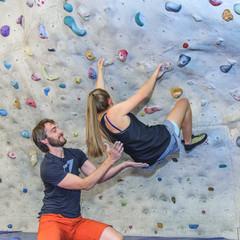 Bouldern im Überhang