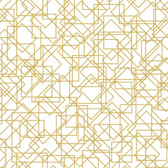 Geometric seamless vector pattern with stylish linear design
