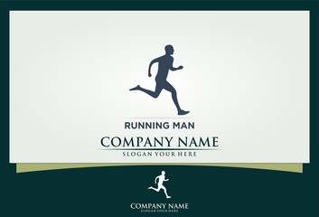 running sport icon logo