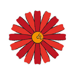 single red flower icon image