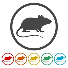 Mouse icons set - vector Illustration