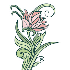 Vector floral ornament.