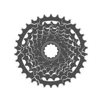Bicycle monochrome sprocket