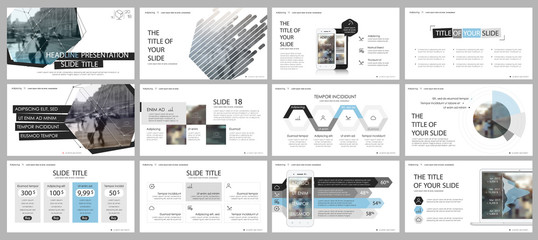 Blue gray and black elements for infographics on a white background. Presentation templates. Use in presentation, flyer and leaflet, corporate report, marketing, advertising, annual report, banner.