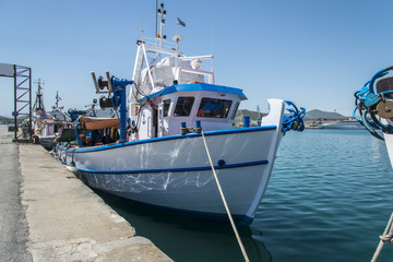 Fishing boat trawler in Volos, Greece