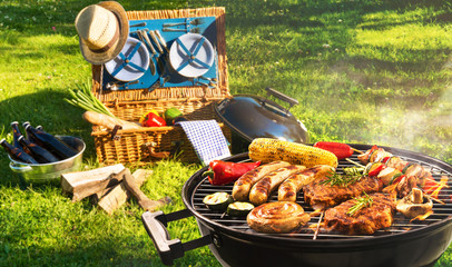 Acrylic Prints Grill / Barbecue Barbecue picnic