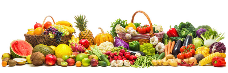 Foto auf Acrylglas Frischgemüse Vegetables and fruits background