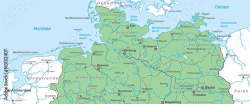 Karte Norddeutschland Ostseekuste.Norddeutschland Nord Und Ostsee Landkarte Stockfotos Und