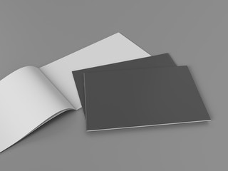 Foto auf Acrylglas Grau horizontal brochure book magazine template