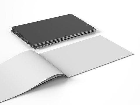 horizontal brochure book magazine template