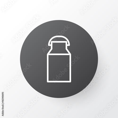 milk can icon symbol premium quality isolated jug element in trendy