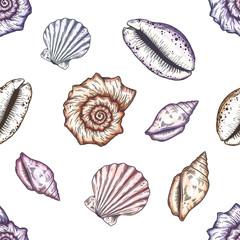 Hand drawn marine background.