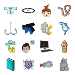 Breed, cat, fishing and other web icon in cartoon style.Travel, animal, vacation icons in set collection.