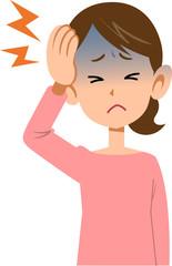 病気 女性 頭痛 上半身