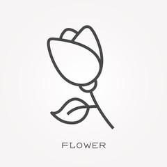 Line icon flower