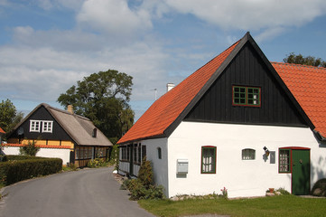 häuser auf samsø in dänemark