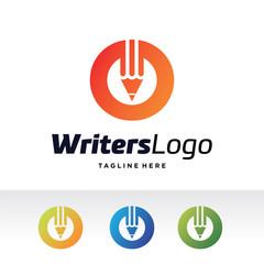 O Letter, Writers Logo Template Design Vector, Emblem, Design Concept, Creative Symbol, Icon