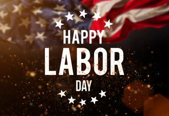 Labor day banner, patriotic background Fototapete