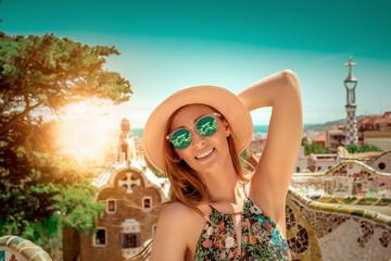 Foto op Canvas Barcelona summer vacation tourist in barcelona spain