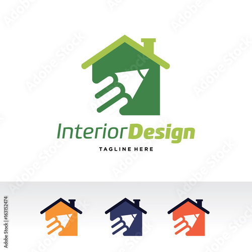 Interior Design Logo Template Design Vector, Emblem, Design Concept,  Creative Symbol, Icon