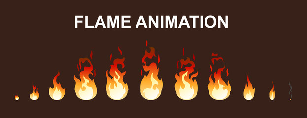 Light Fire Flames Animation Collection