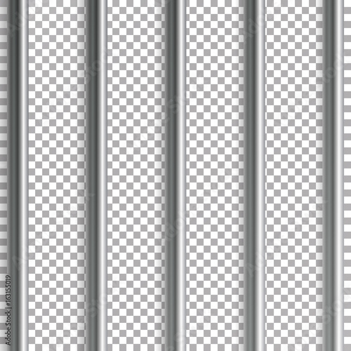 Jail Bars Vector Illustration Isolated On Transparent Background