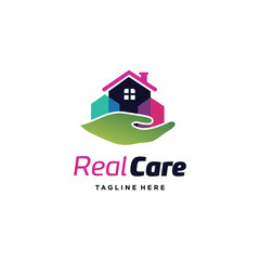 Real Care Logo Template Design Vector, Emblem, Design Concept, Creative Symbol, Icon