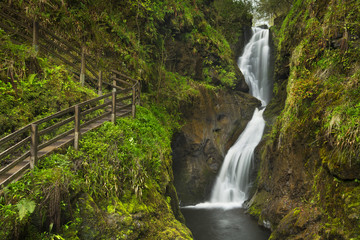 Waterfall in the Glenariff Forest Park in Northern Ireland