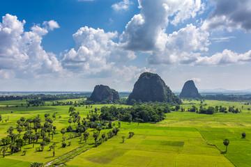 Beautiful rural landscape near Hpa-an, Kayin State, Myanmar