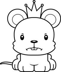 Cartoon Angry Prince Mouse