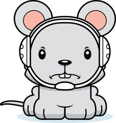 Cartoon Angry Wrestler Mouse