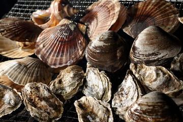 海鮮網焼き Grilled seafood