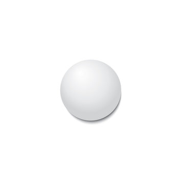 Ping-pong ball with shadow. Vector illustration.