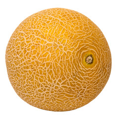 Fresh galia melon isolated on a white background.