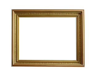 Frame isolated on white background, for image, photos, text