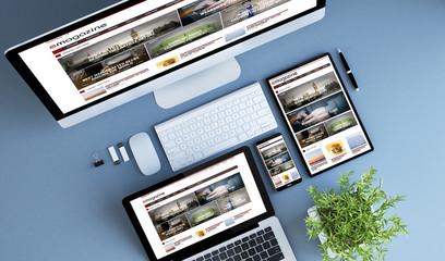top view blue devices e-magazine