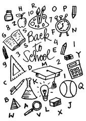 Hand drawn school icon