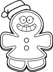 Christmas Cartoon Gingerbread Woman