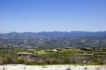 The Troodos mountain range, Paphos, Cyprus.