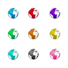 Multi-color 3D earth vector