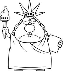 Sad Cartoon Statue of Liberty