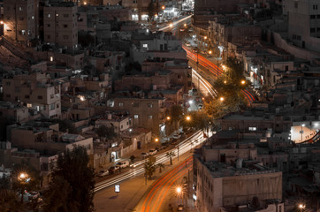 Amman Jordan street at night