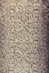 Wooden door Arabic decorations