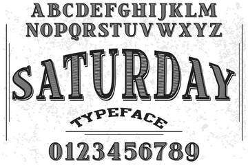 vintage font handcrafted vector