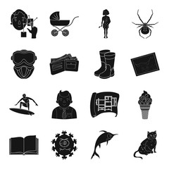 finance, sports, building and other web icon in black style.education, travel, medicine icons in set collection.