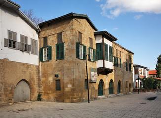 Old street in Nicosia. Cyprus