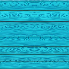 Blue wooden texture, seamless pattern wooden turquoise boards, wall or fence. Vector illustration. Empty template. Summer wood template for poster, brochure, Sales banner design