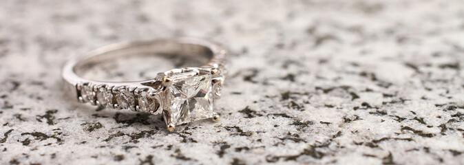 Diamond Ring on Granite