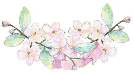 Watercolor hand painted spring flowers, wedding invitations , bridal shower, beautiful clip art